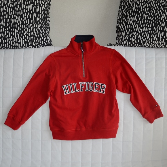 9aa1e64e Tommy Hilfiger Shirts & Tops | Kids Boys Red Halfzip Sweater | Poshmark